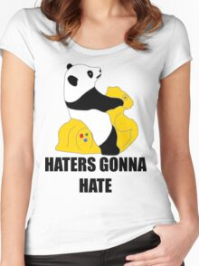 Haters Gonna Hate: Panda Women's Fitted Scoop T-Shirt