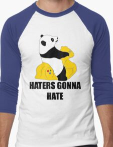 Haters Gonna Hate: Panda Men's Baseball ¾ T-Shirt