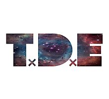TDE TOP DAWG BLUE PURPLE RED NEBULA Photographic Print