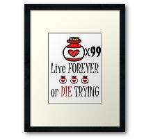 99 potions: live forever or die trying Framed Print
