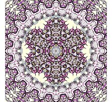 purple flowers Mandala Photographic Print