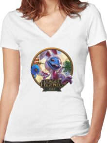 Cottontail Fizz Women's Fitted V-Neck T-Shirt