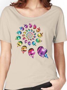 Rainbow Heart Wheel Women's Relaxed Fit T-Shirt