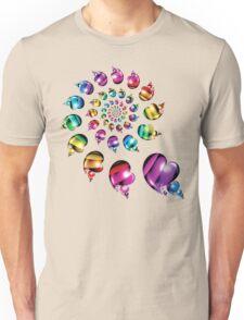 Rainbow Heart Wheel Unisex T-Shirt