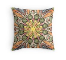 Abstract fantastic plant pattern  Throw Pillow