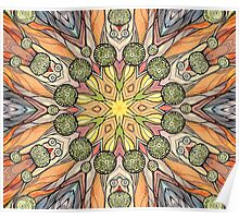 Abstract fantastic plant pattern  Poster