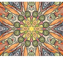 Abstract fantastic plant pattern  Photographic Print
