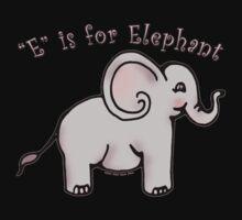 E is for Elephant Kids Tee