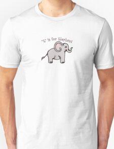 E is for Elephant T-Shirt