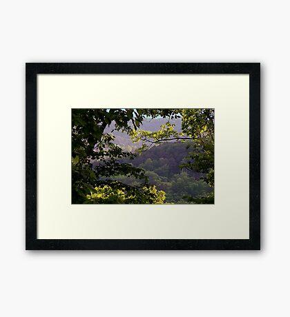 Morning Light in the Mountains Framed Print