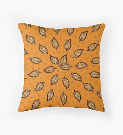 Pattern with autumn leaf Throw Pillow