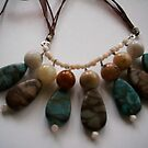 handmade necklace using semi precious gemstones by anaisnais