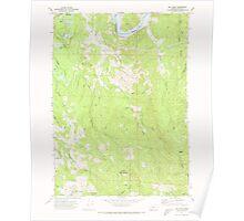 USGS Topo Map Oregon Bill Peak 279040 1971 24000 Poster