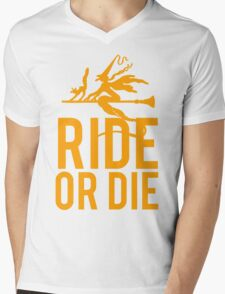 Ride or Die Witch Halloween Mens V-Neck T-Shirt