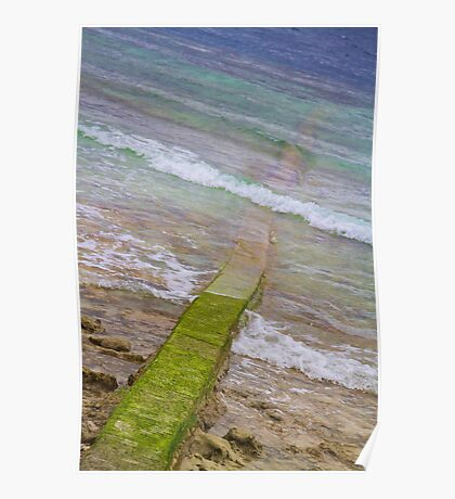 Colorful Seawall Poster