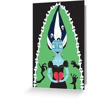 The Bride Of Frankenstein- Tim Burton Style Greeting Card