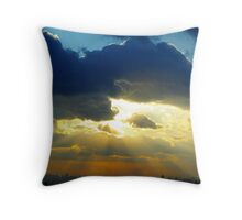 Sunset in New York City Throw Pillow