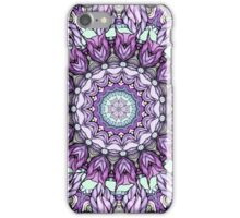watercolor lily kaleidoscope mandala iPhone Case/Skin