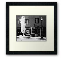 arbre et un lampadaire Framed Print