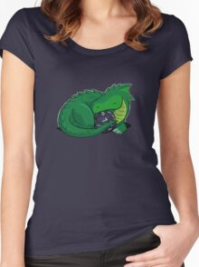 D20 Green Dragon Women's Fitted Scoop T-Shirt