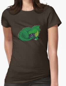 D20 Green Dragon Womens Fitted T-Shirt