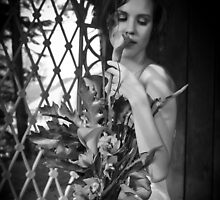 Autumn Bride BW Version by Maggie Lowe