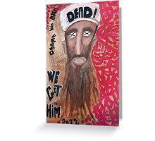 Osama bin laden Portrait  Greeting Card