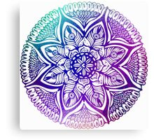Mandala#4.Hand draw  ink and pen, Watercolor, on textured paper Canvas Print