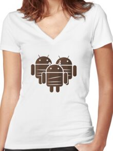 Sankara Droids (No Text) Women's Fitted V-Neck T-Shirt