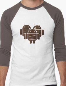 Sankara Droids (No Text) Men's Baseball ¾ T-Shirt
