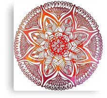 Mandala#3. Hand draw  ink and pen on textured paper Canvas Print