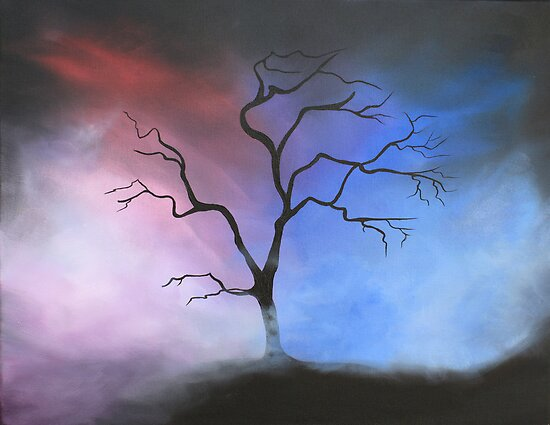 Misty Tree by Linda Woodward