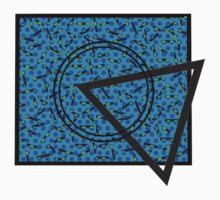 90s Pattern Shapes (Blue) Kids Clothes