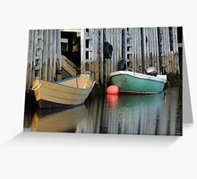 Nova Scotia - Fishing Boats Greeting Card