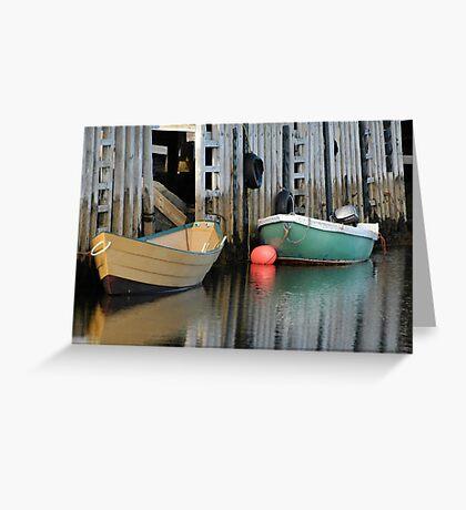 Nova Scotia - Fishing Boats Greeting Card