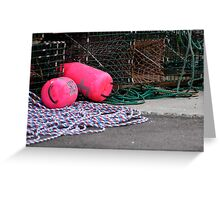 Lobster Trap Markers ... Nova Scotia Greeting Card