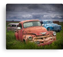 Auto Graveyard in the Rural Countryside Canvas Print