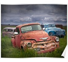 Auto Graveyard in the Rural Countryside Poster