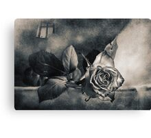 Rose and Sparrow Canvas Print