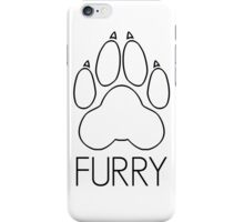 Furry - pawprint black text- iPhone Case/Skin