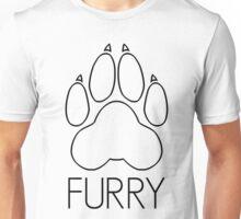 Furry - pawprint black text- Unisex T-Shirt