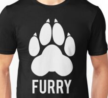 FURRY pawprint -white- Unisex T-Shirt