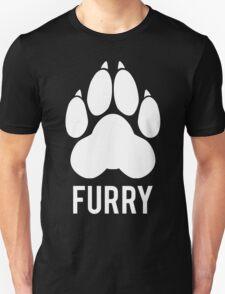 FURRY pawprint -white- T-Shirt