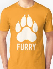 FURRY pawprint -white- T-Shirt