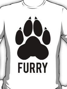 FURRY pawprint -black- T-Shirt