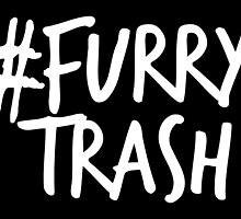 #FurryTrash -white- by 8Bit-Paws