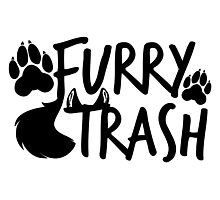 Furry Trash -black- Photographic Print