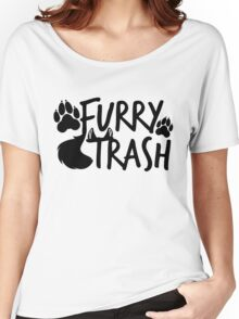 Furry Trash -black- Women's Relaxed Fit T-Shirt