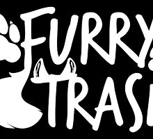 Furry Trash -white- by 8Bit-Paws