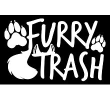 Furry Trash -white- Photographic Print